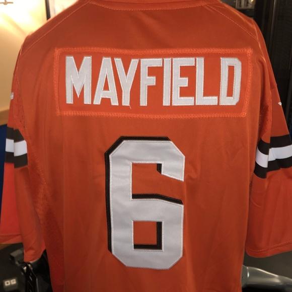 baker mayfield browns jersey orange